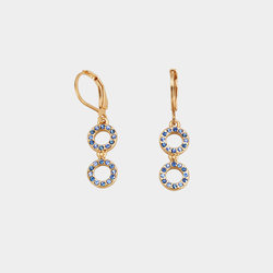 Aretes Glam Blue Cristal