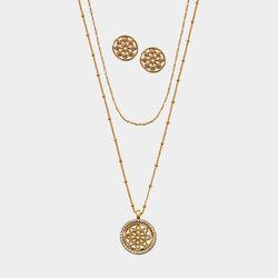 Collar + Aretes Mandala Gold