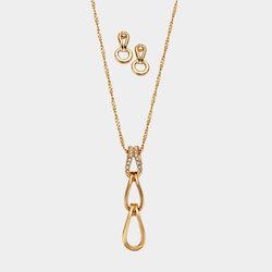 Collar Aretes Love Chain
