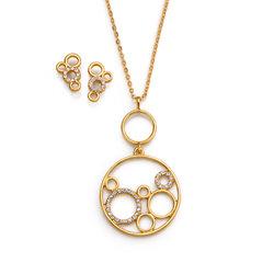 Collar + Aretes Golden Circle