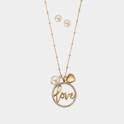 Collar + Aretes Pearl Love