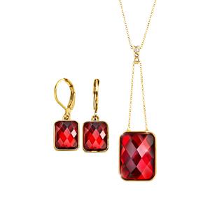 Estuche Collar + Aretes Fullcolor Gems