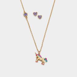 Collar Aretes Lovely Unicorn