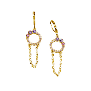 Pendientes Glam Circle Fly