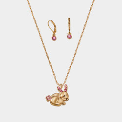 Collar + Aretes Gold Bunny