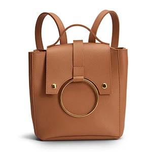 mini mochila de cuero kiki