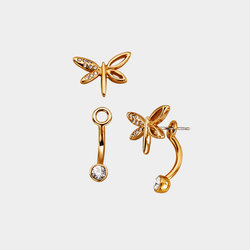Aretes Gold Fly