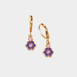 Aretes Glam Midnight Garden