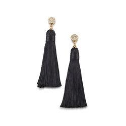 Aretes Black Linen