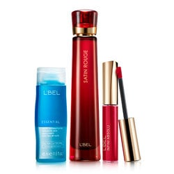 set satin rouge