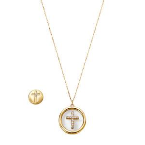 Estuche Collar + Aretes Circle Cross